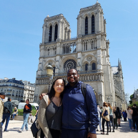 students at Notre Dame cathedral