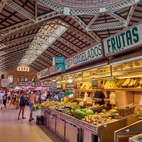 The Central Market of Valencia, València, Spain